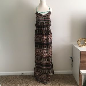 City Triangles Tribal Print Maxi Dress